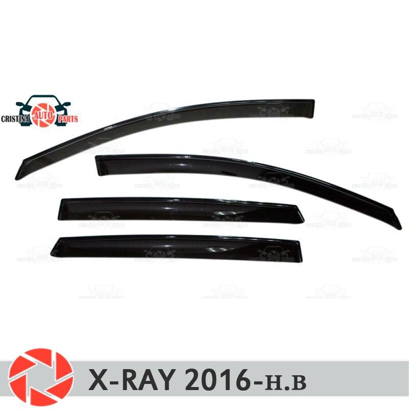 Deflector janela para Lada X-Ray 2016-chuva defletor sujeira proteção styling acessórios de decoração do carro de moldagem