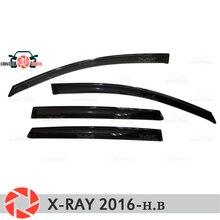 Оконный дефлектор для Лада X-Ray 2016-дождевой дефлектор грязи Защитная оклейка автомобилей украшения аксессуары литье