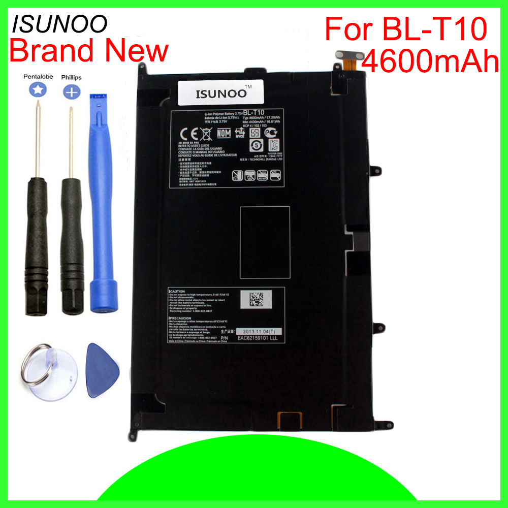 ISUNOO 4600mAh <font><b>BL</b></font>-<font><b>T10</b></font> battery for LG GPAD G PAD 8.3 <font><b>BL</b></font>-<font><b>T10</b></font> VK810 V500 Battery Replacement With Repair Tools image