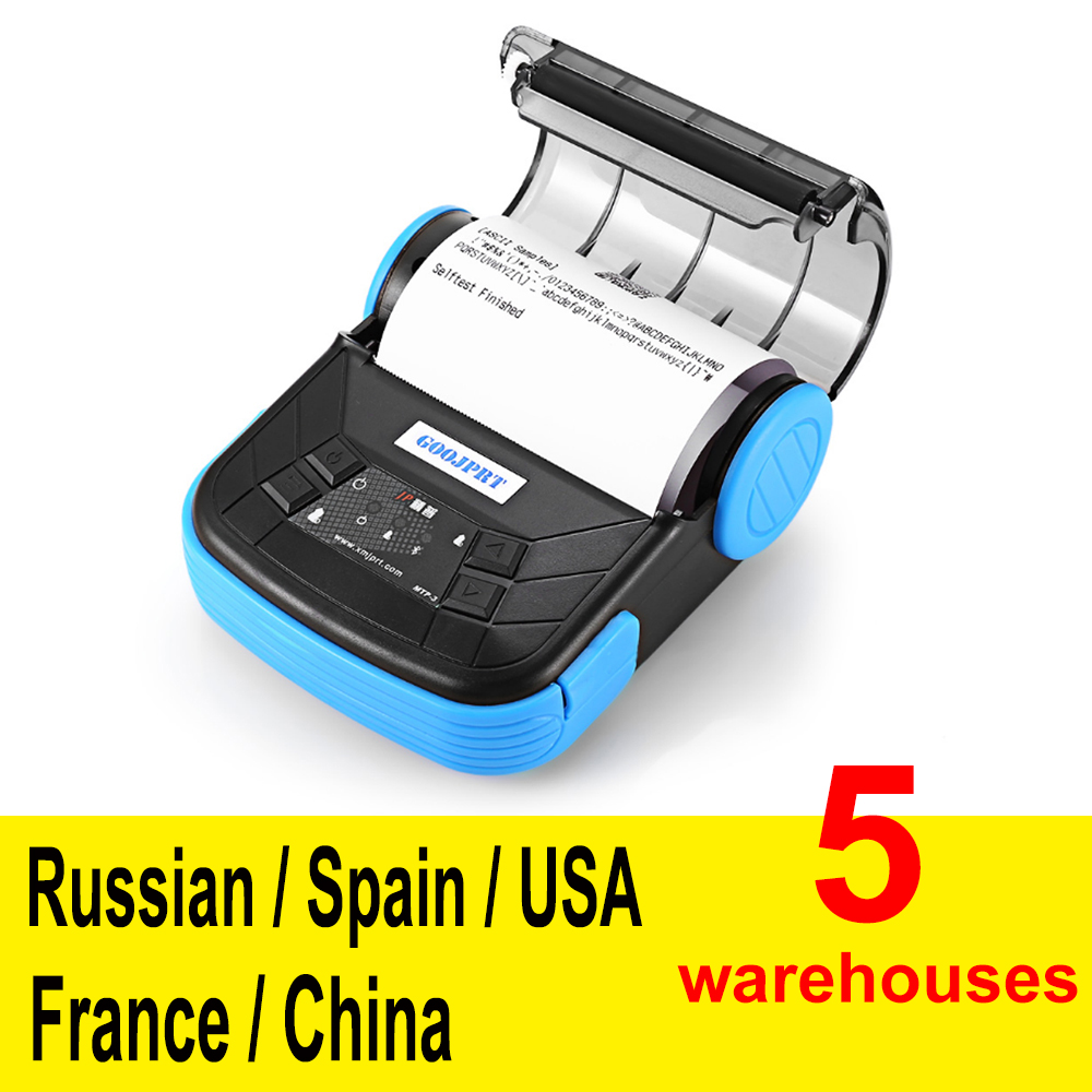 MTP 3 80mm Mini bluetooth Themal Printer Portable Wireless Thermal Receipt Printer Suitable For Android iOS