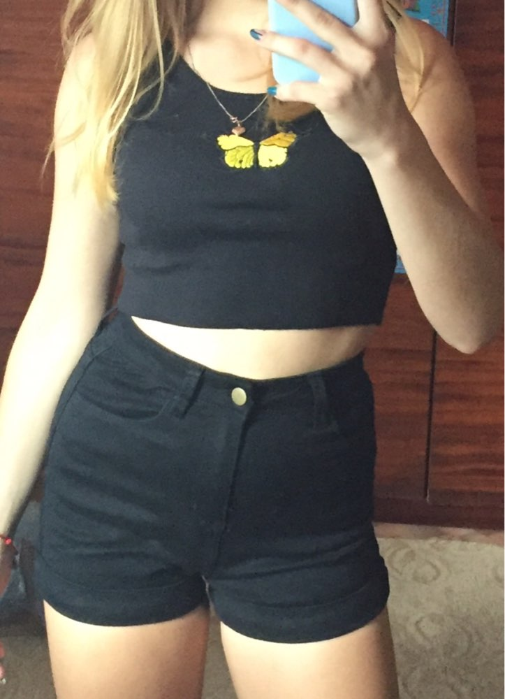 Women Euro Style High Waist Denim Shorts Stretch Casual Basic Jeans Shorts High Quality Shorts For Summer Spring Autumn photo review
