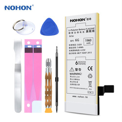 Original NOHON Battery 1960mAh For Apple iPhone 6 6G Bateria For iPhone6 Lithium Polymer Batterij Free Tools With Retail Package