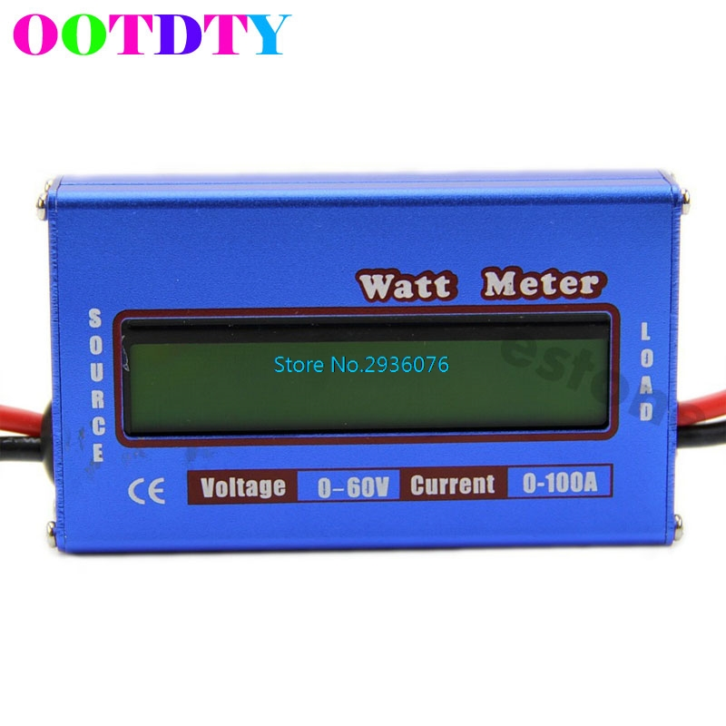 OOTDTY Digital 60V/100A Battery Power Analyzer Watt Meter Balancer For DC RC Helicopter APR5_30 new digital balance voltage power watt meter analyzer tester checker for rc helicopter battery charger 60v 100a wattmeter