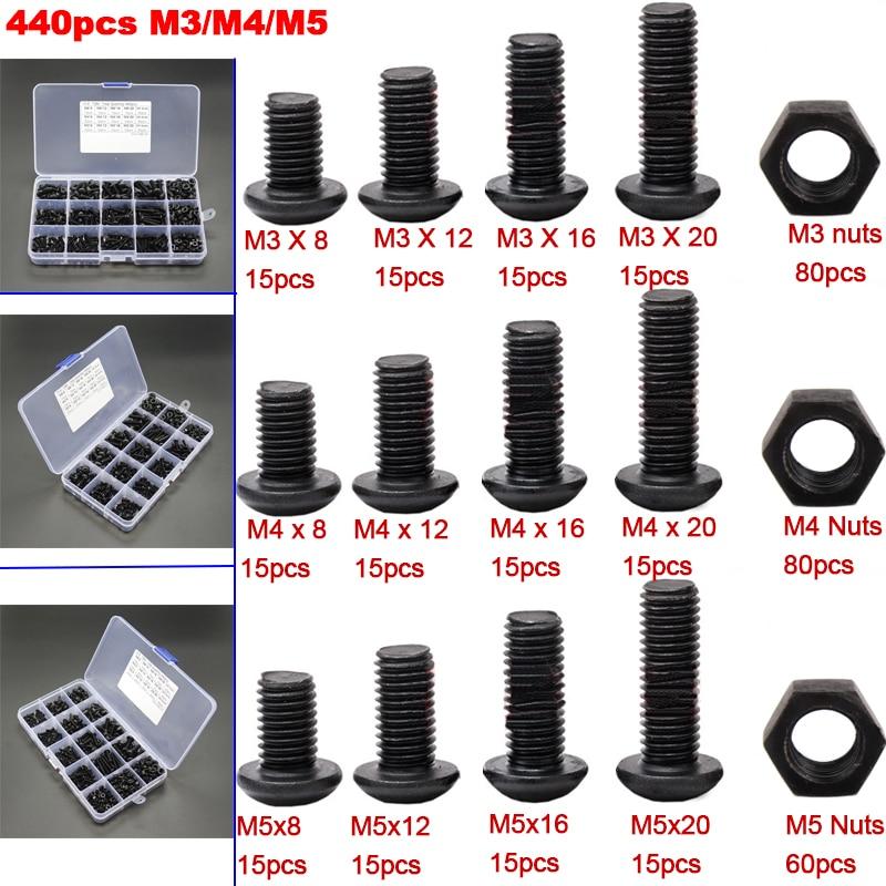 M3 M4 M5 Steel Grade 10.9 Button Head Socket Screw Allen Bolt Choose Bolt Size