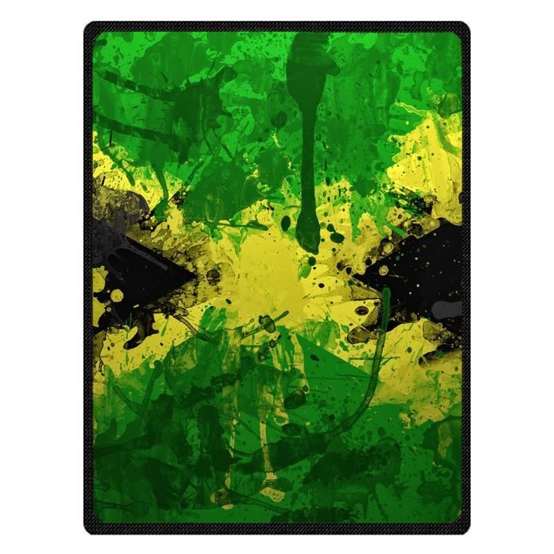 Jamaica Flag Warm Fleece Throw Blanket Super Soft Flannel Manta For Sofa/Bed/Car/Plane/Travel/Baby Bedspread