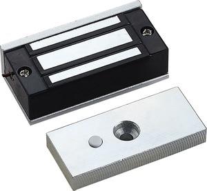 Image 1 - Trava eletrônica magnética elétrica de 12v 60kg, seguro, dc em fechaduras, força de suporte, eletromagnética, mini m60 para porta acesso de entrada