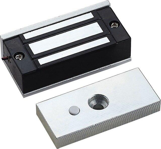 Trava eletrônica magnética elétrica de 12v 60kg, seguro, dc em fechaduras, força de suporte, eletromagnética, mini m60 para porta acesso de entrada