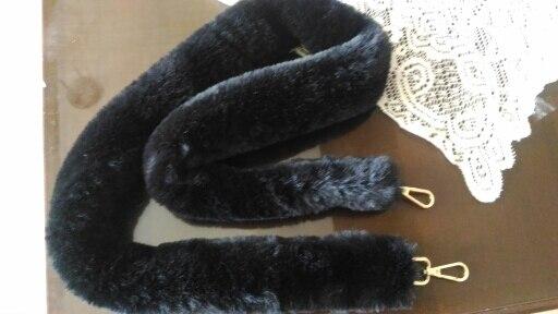 Osmond Warm Fur Handbag Handle Bag Strap 45/100/120CM Bag Straps Women Bag Belts Shoulder Belt Bag Accessories Parts Black photo review