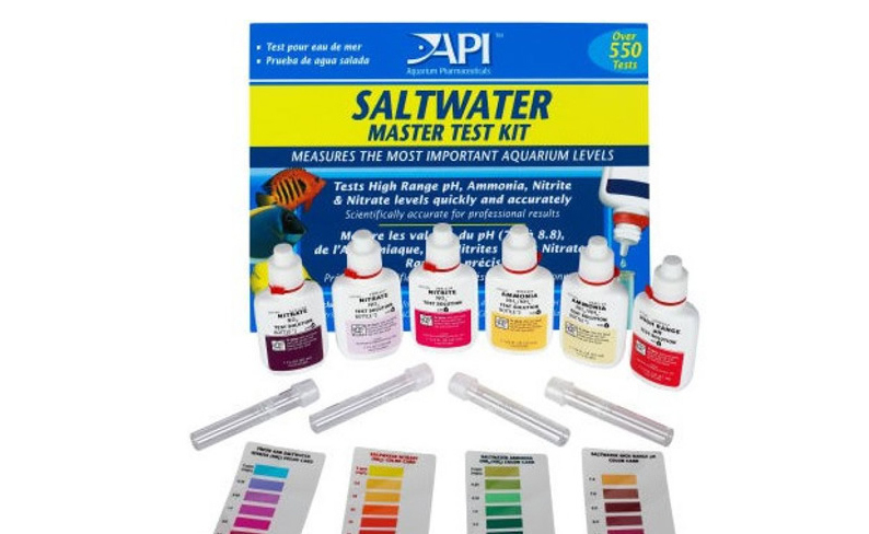 API Reef Test Kit Fresh Water Test Kit for Ca calcium Cu I2 KH Mg NH4 Ammonia NO2 Nitrite NO3 Nitrate PH PO4 Sr