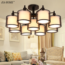 New Modern White Fabric chandeliers for Livingroom Bedroom indoor lamp  lustres de teto ceiling chandelier