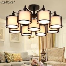 Nueva Moderno arañas De Tela para el Dormitorio Salón lámpara de interior Blanco chandelier lustres de teto