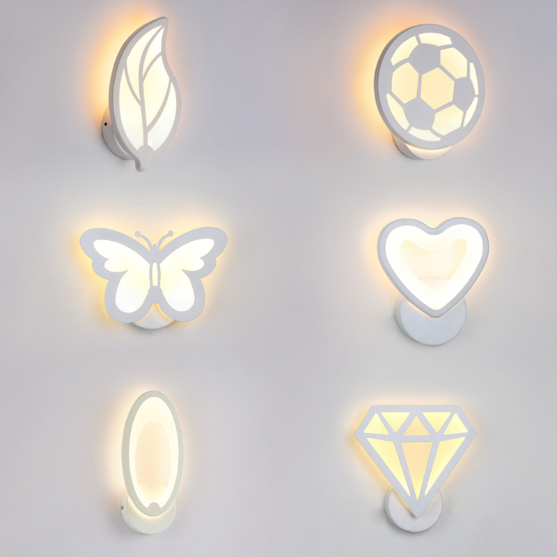 12W LED Acrylic wall light Children's room bedside bedroom wall lamps arts creative Corridor Aisle Sconce Decor AC85-265V