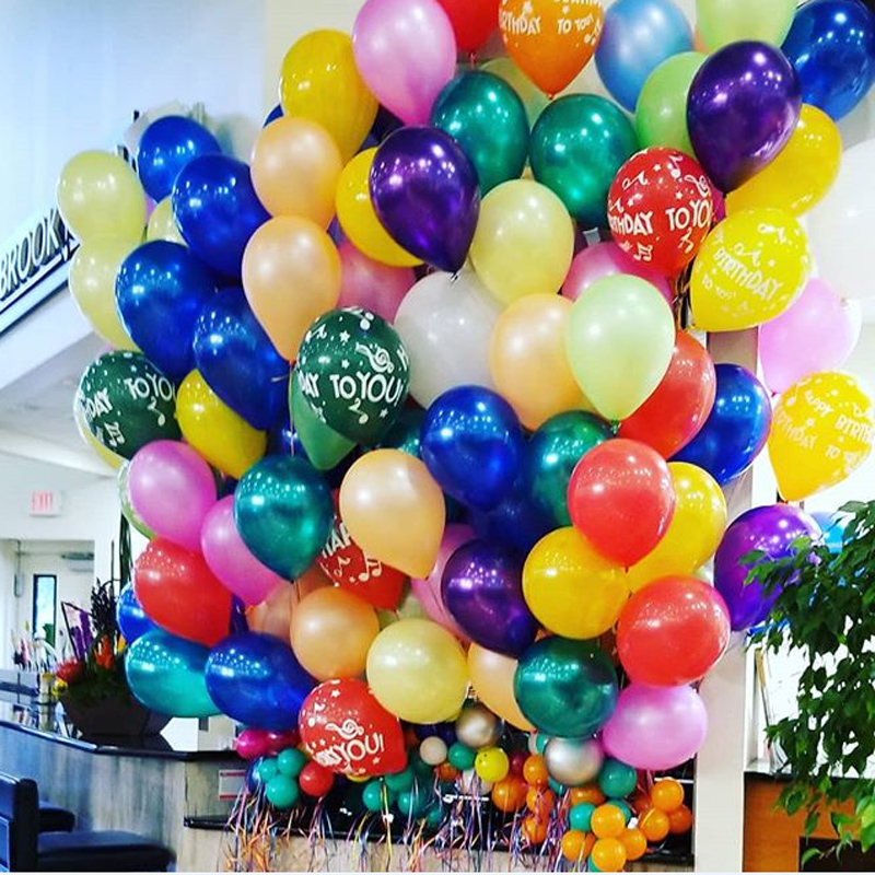 12-Inch Pearl Latex Balloons For Wedding Birthday Party 2.8g Balloons Blue Baby Shower Party Decoration 100pcs lot 12inch gold high quality printed snowflake latex balloon air balls inflatable wedding party decoration float balloons