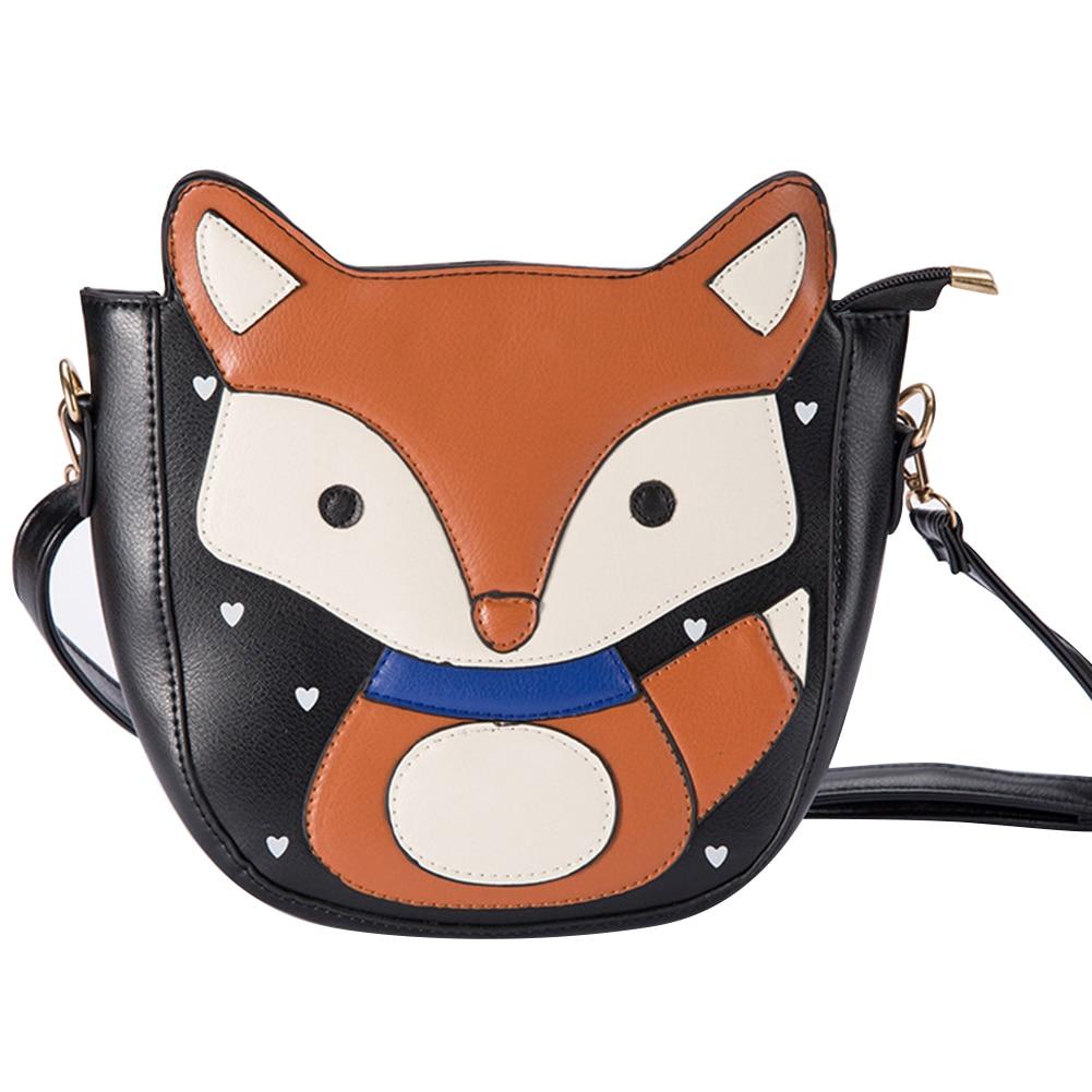 Kinder- & Babytaschen Gepäck & Taschen EntrüCkung Niedlichen Cartoon Fuchs Umhängetasche Reißverschluss Frauen Faux Leder Crossbody