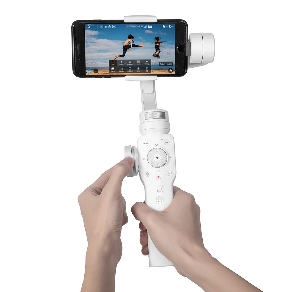 Zhiyun Smooth 4 3 Axis Focus Pull Zoom Capability Handheld Gimbal Stabilizer For IPhone X 8