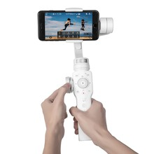 Zhiyun Halus 4 3-Sumbu Tarik Fokus & Kemampuan Zoom Handheld Gimbal Penstabil untuk iPhone X 8 7 Plus samsung Galaksi S8 + S8 Putih
