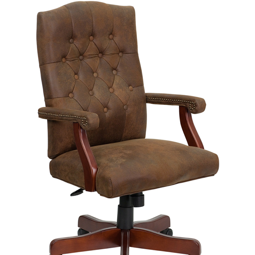 Flash Furniture Bomber Brown Classic Executive Office Chair [863-802-BRN-GG] ausable bomber fly