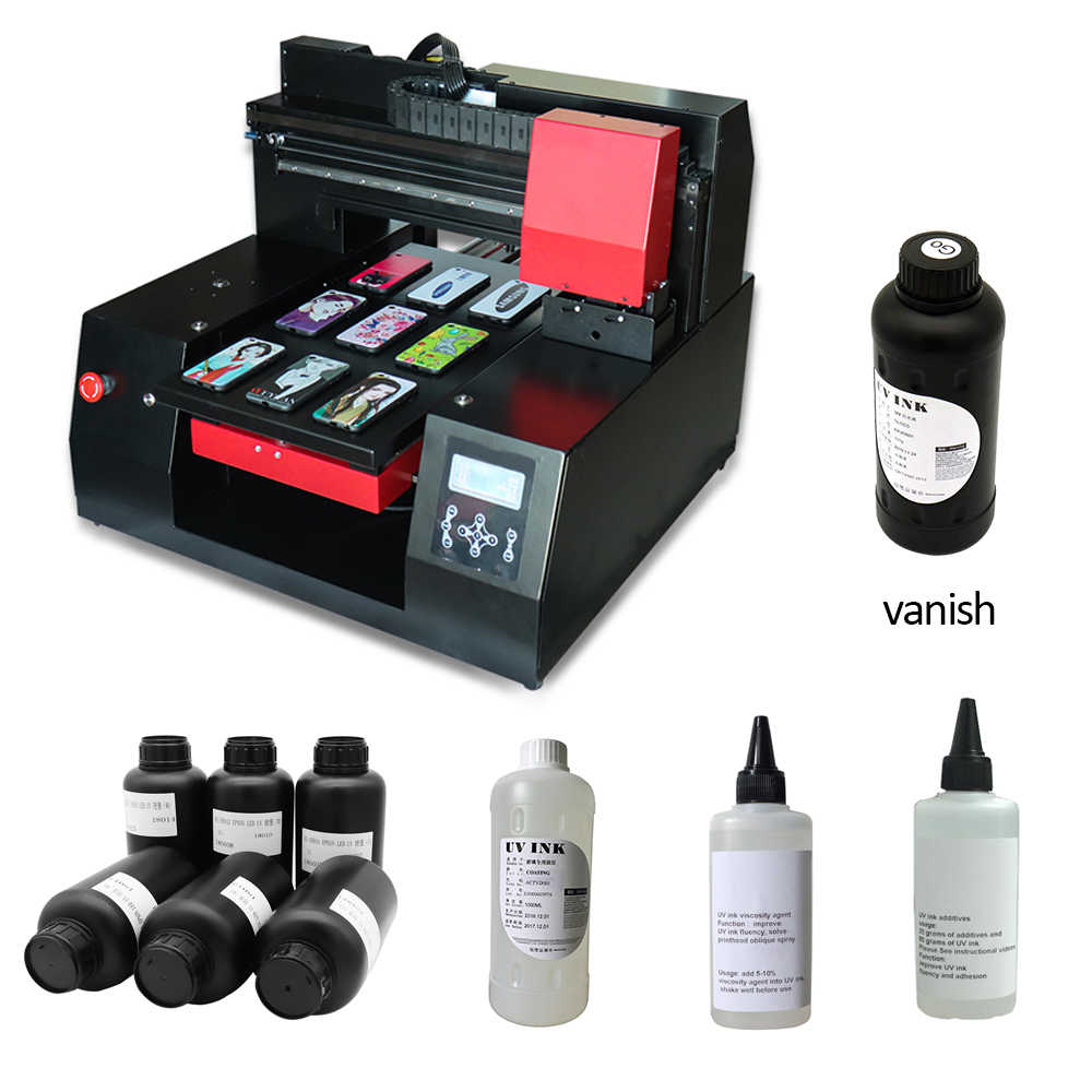 Colorsun 2 printhead Automatic A3+ 3060 UV Flatbed Printer Phone case UV printer gloss oil Metal acrylic uv printer with varnish