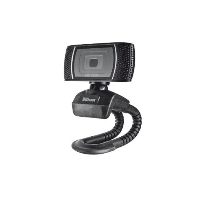 Confiance Trino HD Vidéo Webcam, 8 MP, 720 p, USB, Noir, Clip