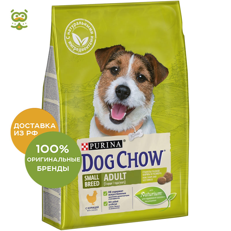 Dog food Dog Chow Small Breed Adult for adult dogs of small breeds, Chicken, 2.5 kg. dog food dog chow adult for adult dogs of all breeds chicken 2 5 kg