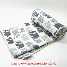 Elephant Pattern Cotton Newborn Infant Swaddle Baby Soft Blanket Parisarc Wraps Towel Mat Baby Bedding Accessories Supplies