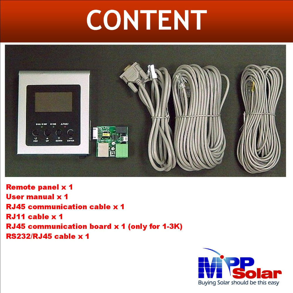 LCD remote control display  for PIP HS PIP MS inverter only