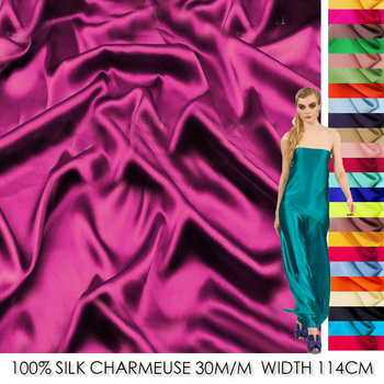 SS11430-1 100% Silk Satin/ Pure Color, 01-1724/ Mulberry Silk Heavy/ Width:1.25yd, Thickness:30m/m  /Unit:Meter