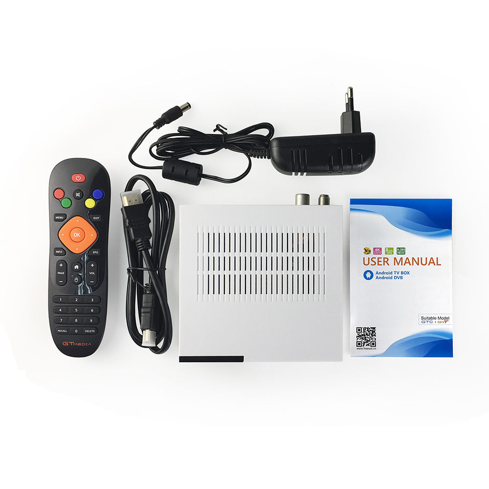 Image 5 - GTMedia GTC Satellite TV Receiver DVB S2/C/T2/ISDB T Android 6.0 Smart TV Box Amlogic S905D 2GB 16GB H.265 Decoder Support IPTV-in Satellite TV Receiver from Consumer Electronics