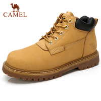 CAMEL Tooling Men Boots Rhubarb Genuine Leather Casual Comfortable Wild Big Yellow Male Ankle Boots