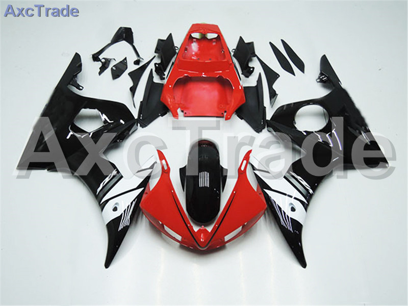 Motorcycle Fairings Kits For Yamaha YZF600 YZF 600 R6 YZF-R6 2003 2004 03 04 ABS Injection Fairing Bodywork Kit Red Black A377
