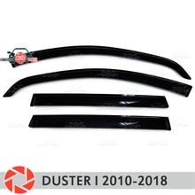 Оконный дефлектор для Renault Duster I 2010-2018 дождевой дефлектор грязевая Защитная оклейка автомобилей украшения аксессуары литье