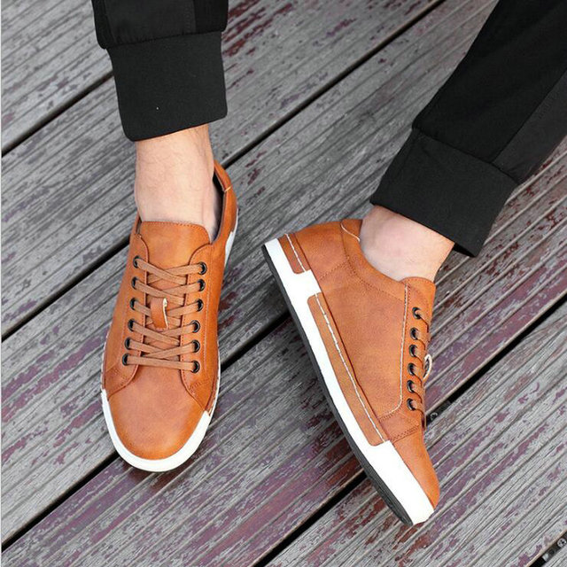 High Quality 2018 fashion male breathable lace up Tenis shoes mens Flats casual shoes black Brand sneakers Big size 38-46  LE-01