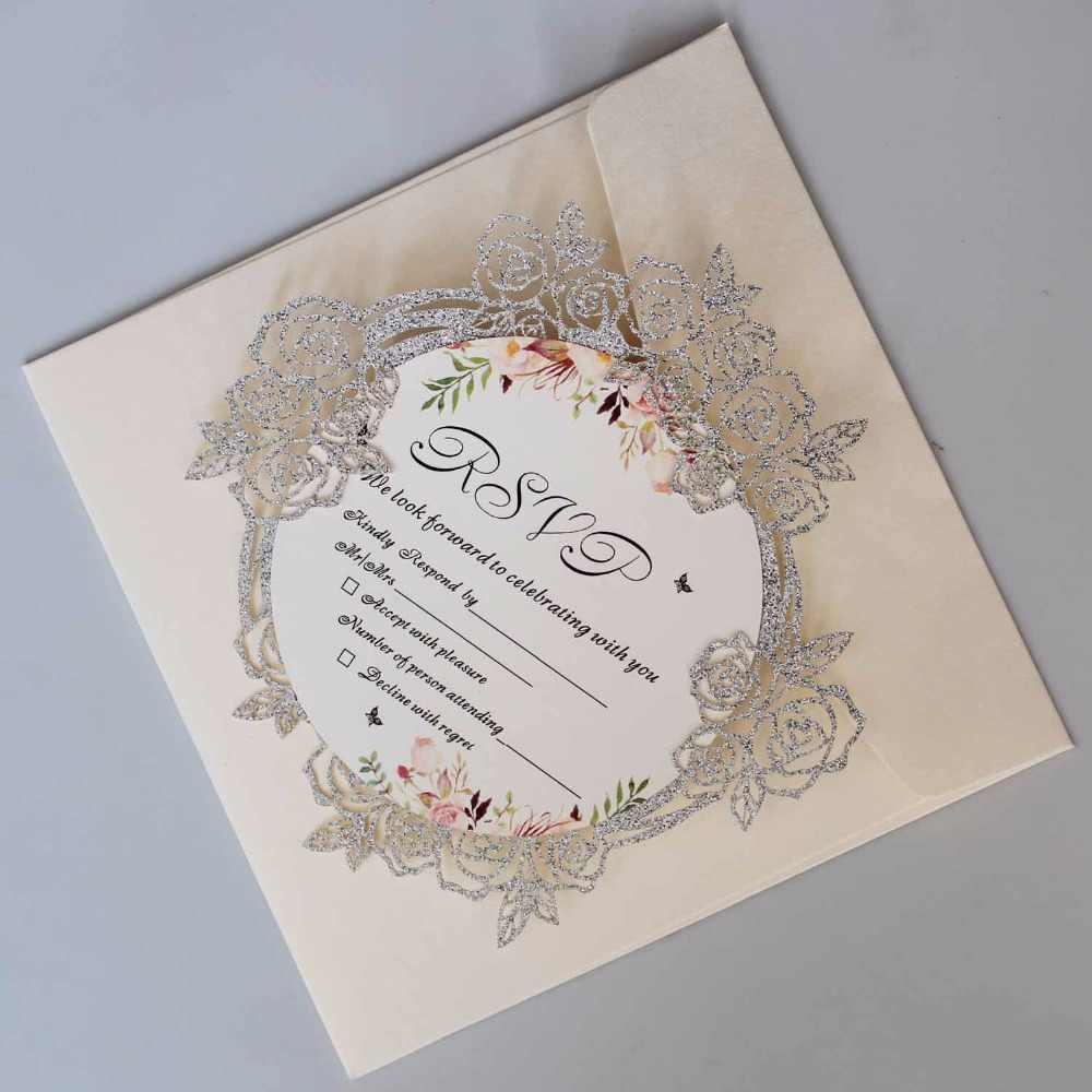 Luxury Laser Cut Wedding Invitations Elegant Rose Invitation Cards With  Unique Wedding Invite set of 50 pcs| | - AliExpress