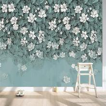 Ручная роспись свежие зеленые листья цветок сад гостиная ТВ