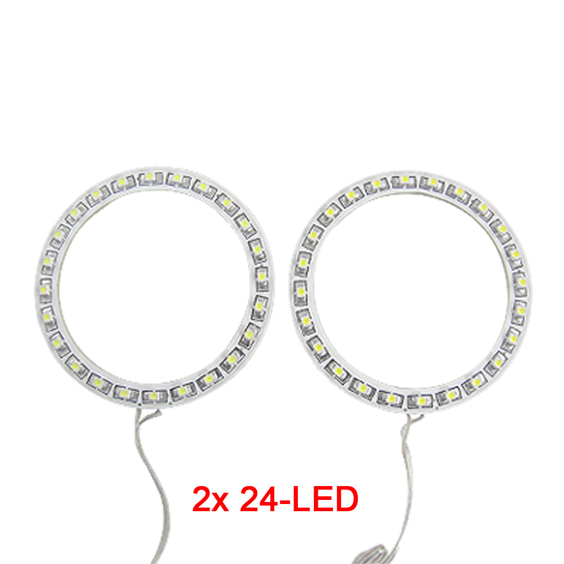 Aliexpress Buy Uxcell White 2 X 80mm Angel Eyes 24