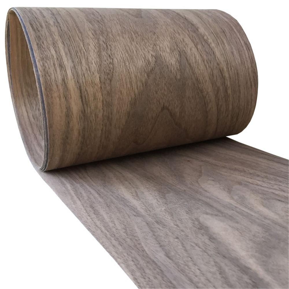 2x Natural Genuine Wood Veneer Sliced Walnut Furniture Veneer 20cm X 2.5 Meters 0.2mm Thick C/C