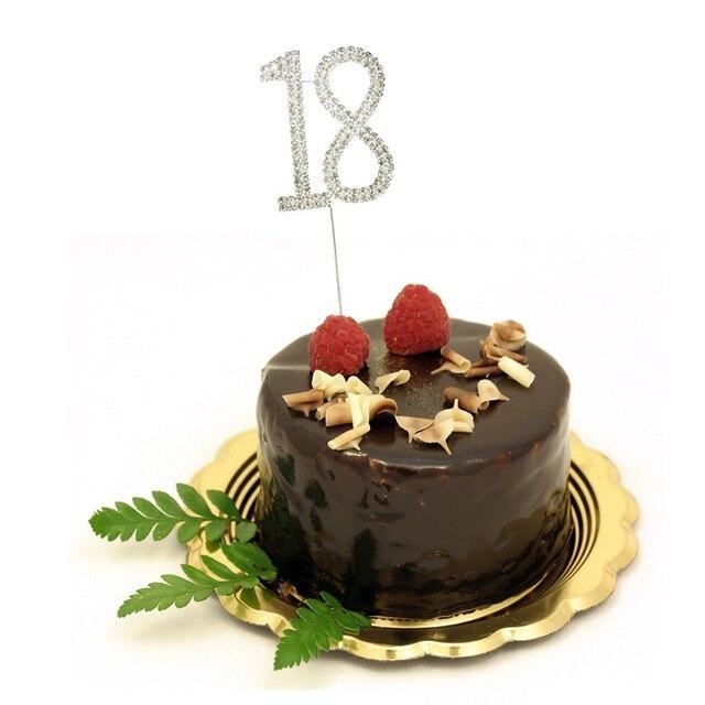 Happy Birthday Rhinestone Diamond Cake Cupcake Toppers For 40th 30th 25th 21th 20th 16th Wedding