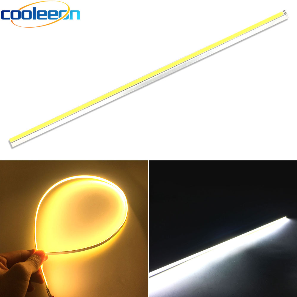 10pcs 600 6mm Dimmable DC12V COB LED Strip 60cm 23 6in LED Bar Light 20W 12V