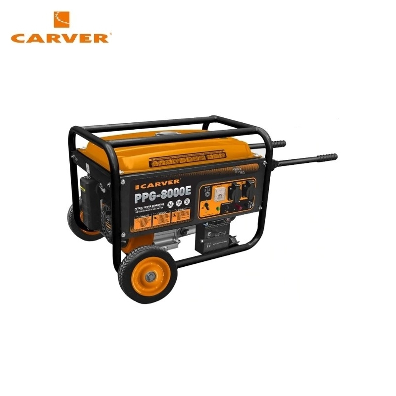 Petrol power generator CARVER PPG-8000E Power home appliances Backup source during power outages Benzine power stations стоимость