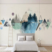 Modern personality geometric mural TV background wall professional production mural wholesale wallpaper mural poster photo wall romantic mediterranean style background wall professional production mural wholesale wallpaper mural poster photo wall
