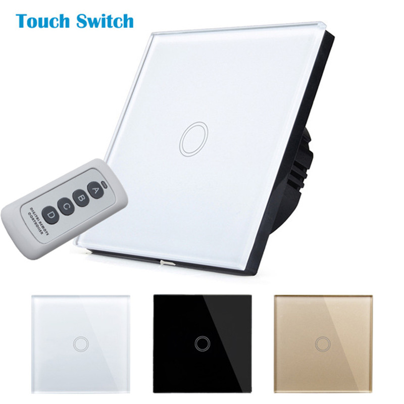 EU standard touch switch,Wall Light Remote Touch Switch+LED Indicator,EU Standard,Remote Switch, Crystal Glass Panel,wall switch us standard touch remote control light switch 2gang1way black pearl crystal glass wall switch with led indicator mg us01rc