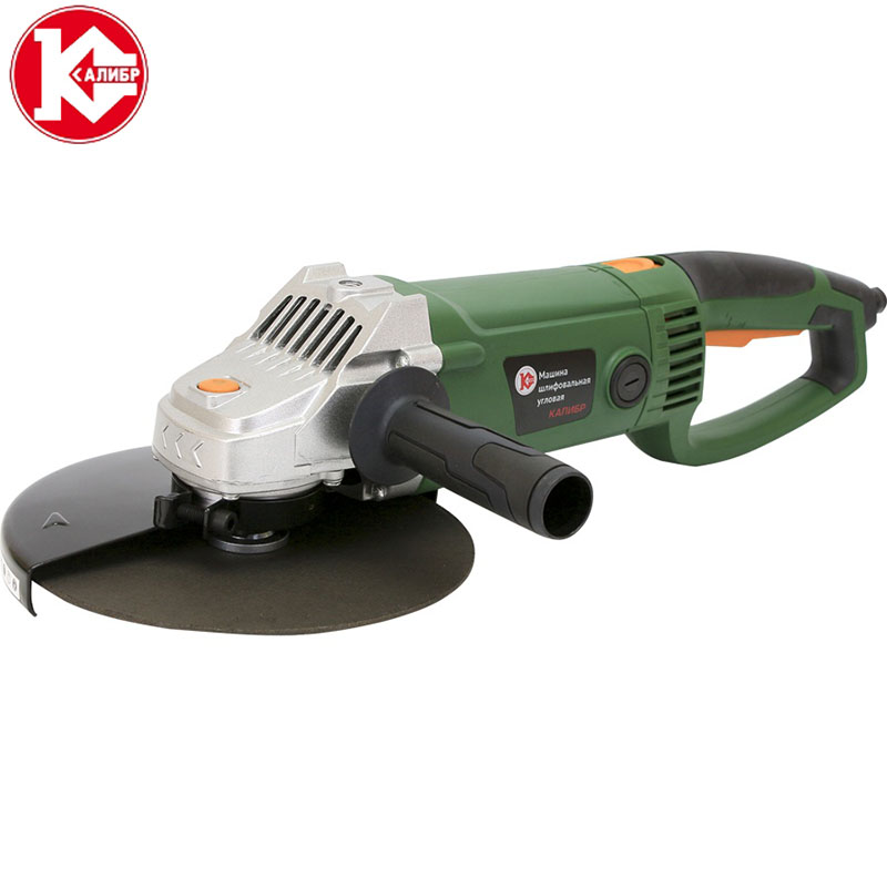 Kalibr MSHU-230/2400P Angle Grinder Wood Metal Polishing Grinding Machine Electric Hand Mill Polishing Machinist Power Tool kalibr mshu 125 1055 angle grinder grinding machine metal polisher angular power tool metal and wood cutting sanding polishing