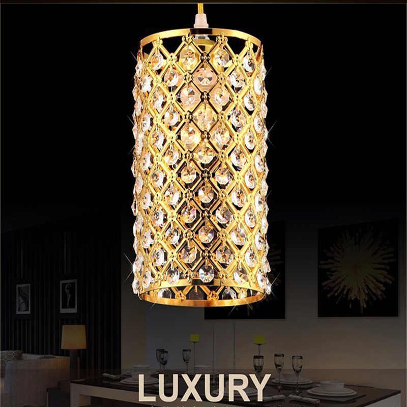 Modern Golden /chrome lustre LED Crystal chandelier crystal lamp E27/26 Chandelier Lighting Fixture Pendant Ceiling Lamp Crystal