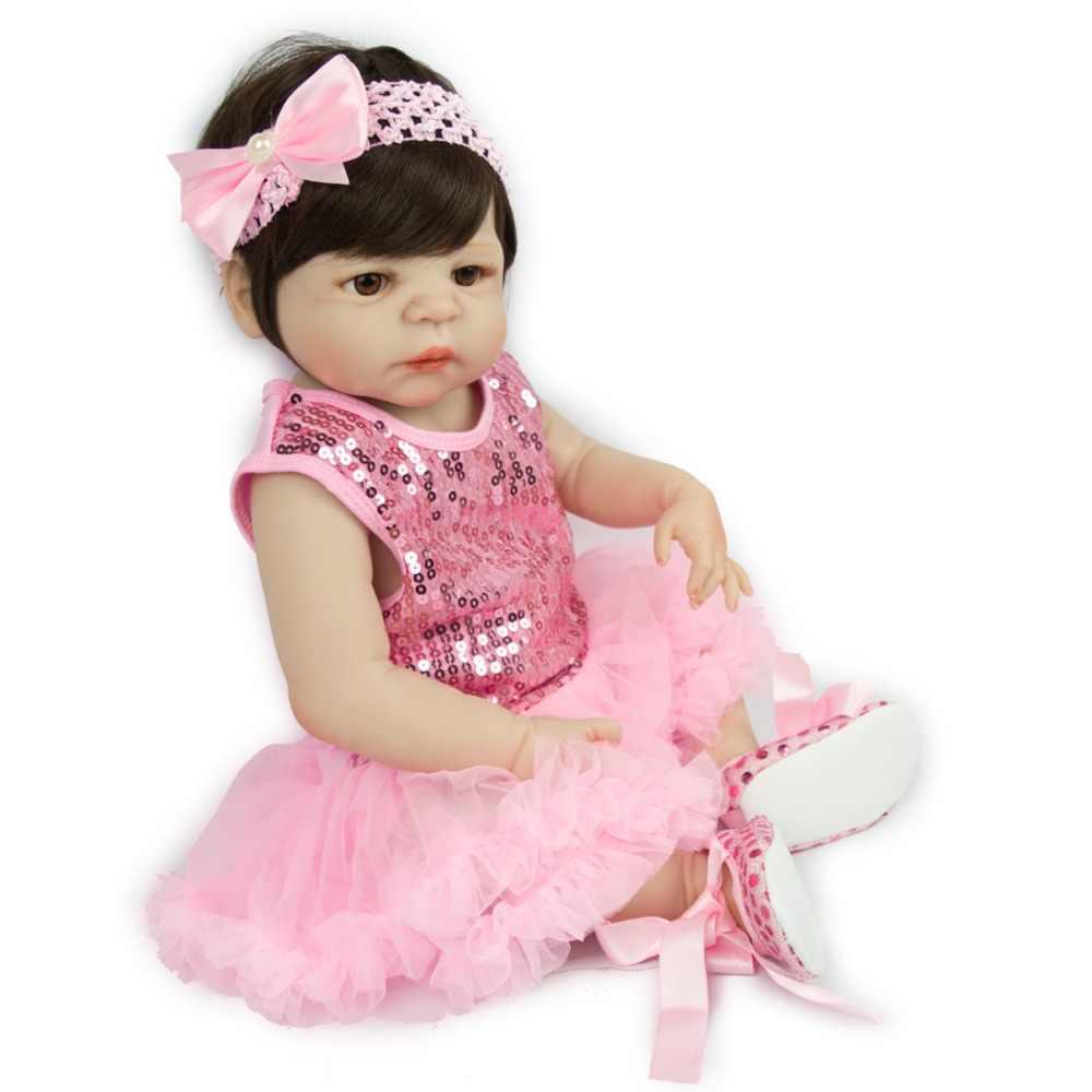 Ребенок счастлив кукла 55 см тела розовое платье в викторианском стиле новые модные куклы настоящая красота для девочек