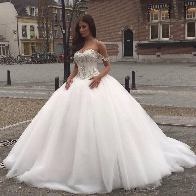 Ball Gown Princess Wedding Dresses 2019 Sweetheart Corset