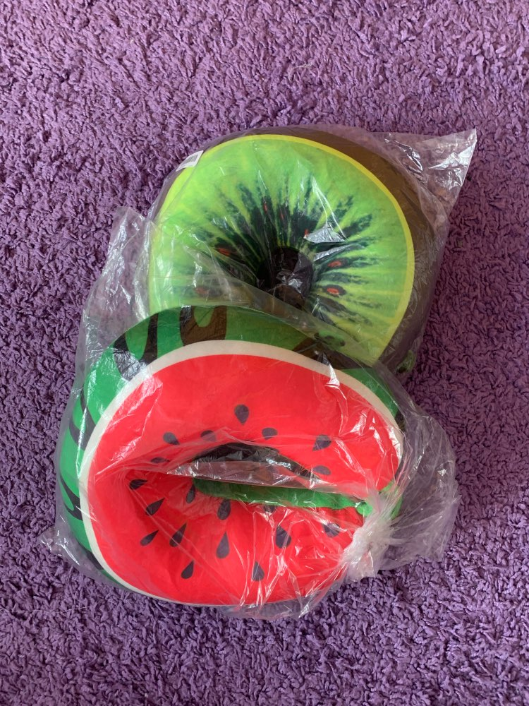Fruit U Shaped Travel Pillow Nanoparticles Neck Pillow Watermelon Lemon Kiwi Orange Car Pillows Soft Cushion Home Textile