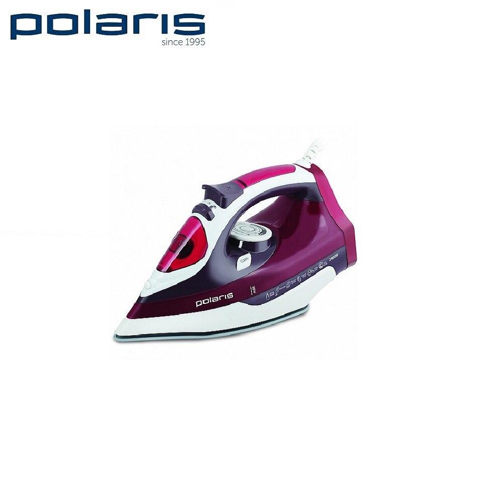 Iron Polaris PIR 2488K wine red Iron for ironing Mini iron steam iron Steam generator for clothing Irons Electric steamgenerator Small iron electric iron polaris pir 2490ak