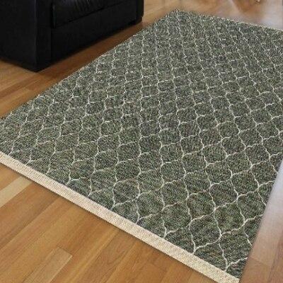 Autre vert blanc Ogee Spade géométrique ethnique antidérapant Kilim lavable décoratif plaine peinture tissé tapis tapis