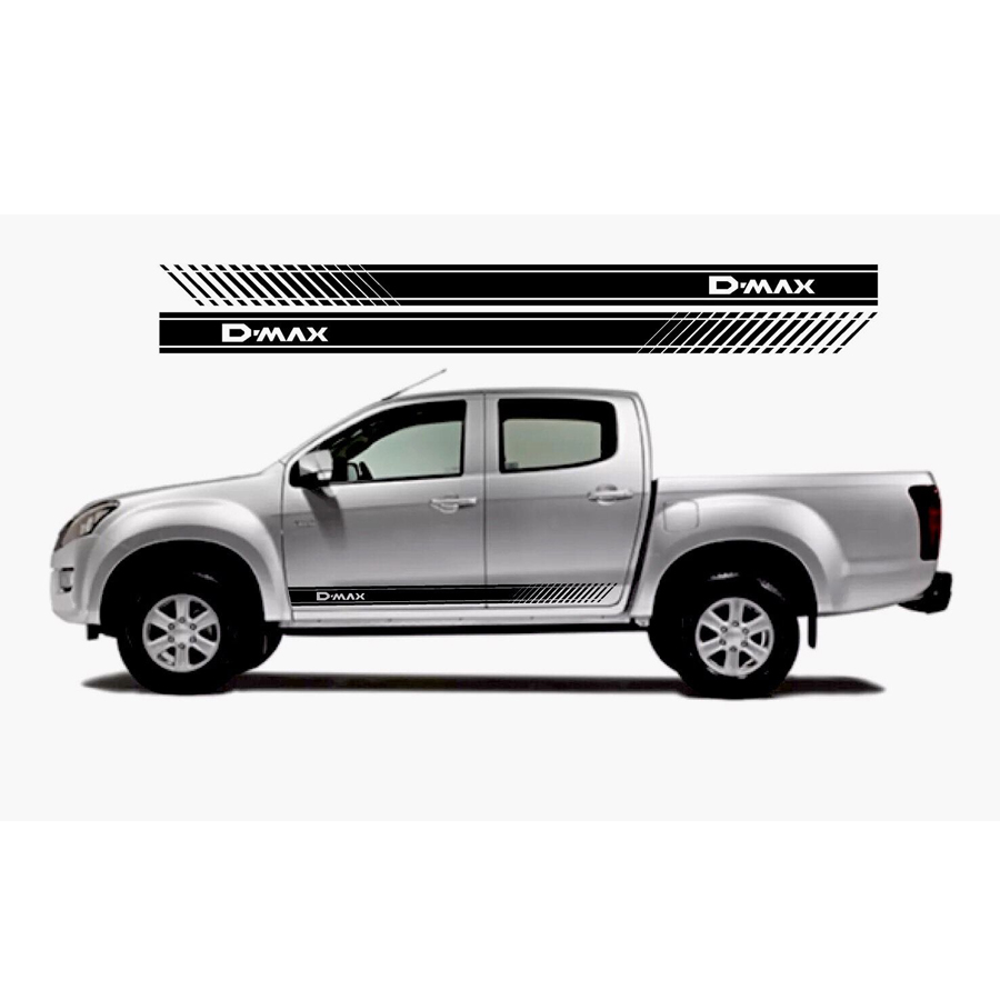 free shipping 2 PC racing Gradient side stripe graphic Vinyl sticker for dmax beast pickup decal 2 pc hilux hilux chequered racing side stripe graphic vinyl sticker for toyota hilux decals