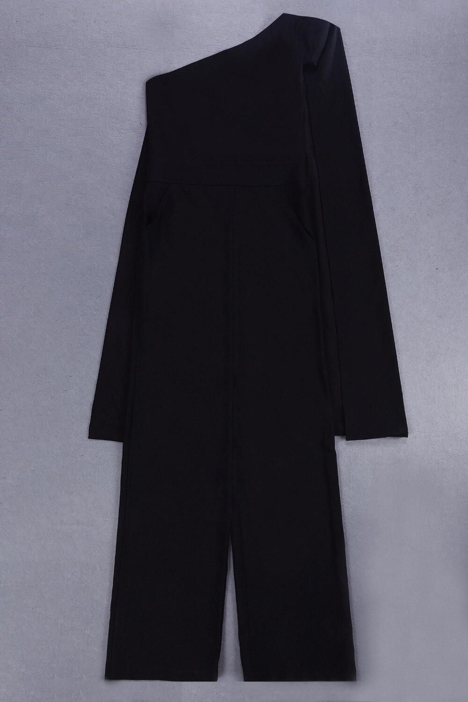 Dropshipping Épaule Gros 2018 Noir blanc Noir R Combinaisons Nouveautés En Une Drapée 9 Blanc 87IwrzxaqI